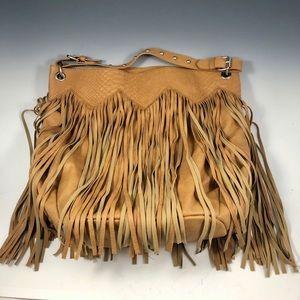 CARLOS SANTANA Vegan Leather Fringe Bag